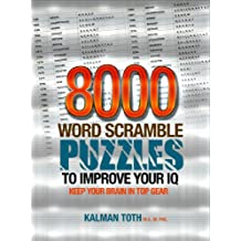 8000 Word Scramble Puzzles to Improve Your IQ (English Edition)
