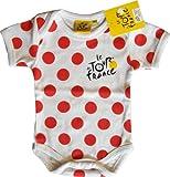 Body Bébé Tour de France - Cyclisme vélo - Vêtement Puericulture nourrisson - modèle' Maillot à pois'- 6 mois