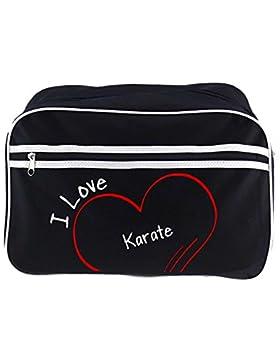Retrotasche Modern I Love Karate schwarz