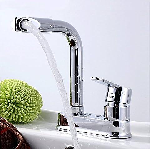 ZHFC- -robinet à double trou robinet, chaud et froid robinet, réservoir d'eau, le mélange de batterie pour la