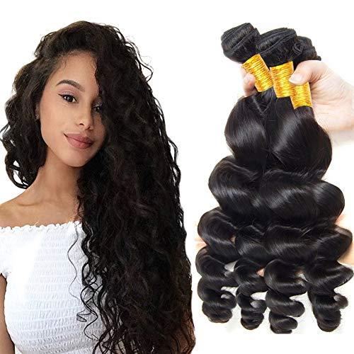 La® brasiliani vergini ondulato naturale capelli umano , morbidi e lisci sciolto umani capelli veri,grado 8a, 300g (20cm 20cm 20cm)