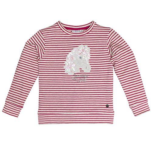 SALT AND PEPPER SALT AND PEPPER Mädchen Sweatshirt Sweat Horses I Stripe, Pink (Berry Melange 877), 92 (Herstellergröße: 92/98)