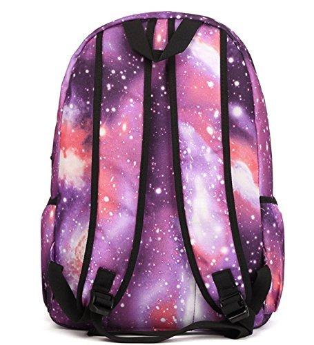Stormiay Unisexsegeltuch -Galaxy-Muster-Schule-Beutel-Rucksack Netter Rucksack für Mädchen (Blau) Blau