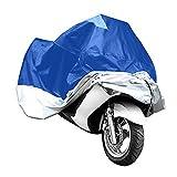 KKmoon Telo Coprimoto Impermeabile Universale, 180T Copri Scooter Moto Antipolveri Anti-UV per Esterni, per Moto Motorino Motociletta Scooter, 265 * 105 * 125cm XXL Blu