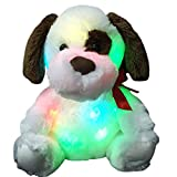 Wewill Brand Glow Puppy Luminious Plush Toys Kids' Plush Dog Soft Toys Night Light Colorful Stuffed Animals, 12-Inch/ 30CM