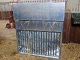 BBT@ | Verzinkte Heuraufe Futterraufe für kleinere Pferdegruppen zur Fütterung von losen Rauhfutter und kleinen Hochdruckballen; / auch für Ziegen-, Schafe-, oder Wildfütterung geeignet