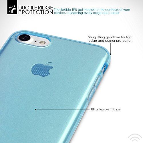 Terrapin TPU Gel Custodia per iPhone 8 / iPhone 7 Cover, Colore: Nero TrasparenteBlu