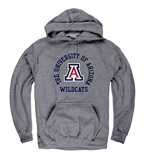 Farben Arizona Wildcats Erwachsene NCAA Team Spirit Sweatshirt mit Kapuze-Graphit, Herren, Graphit, Medium ()