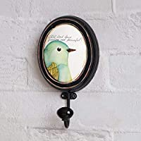Eeayyygch Retro Old Bird Parrot Decoration Hook/Clothing Store Creative Clothing Hat Hook/Clothes Hook-A