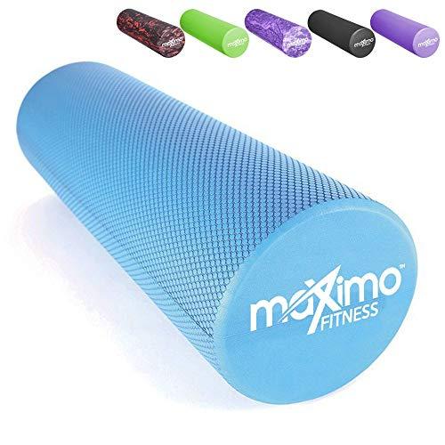 FOAM ROLLER - EVA - 15cm * 45cm - Leggero - Trigger Point - Fornisce confortevole Massaggio Muscolare - Istruzioni in Italiano - Perfetto per la Palestra, il Pilates, lo Yoga - Garanzia a Vita.