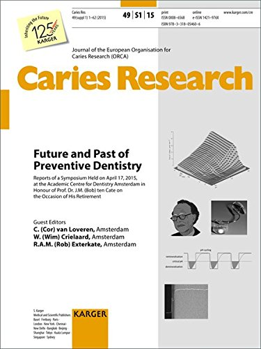 Future and Past of Preventive Dentistry : Symposium Held at the Academic Centre for Dentistry Amsterdam, April 2015, to Honour of Prof. Dr. J.M. (Bob) ... Caries Research 2015, Vol. 49, Suppl. 1