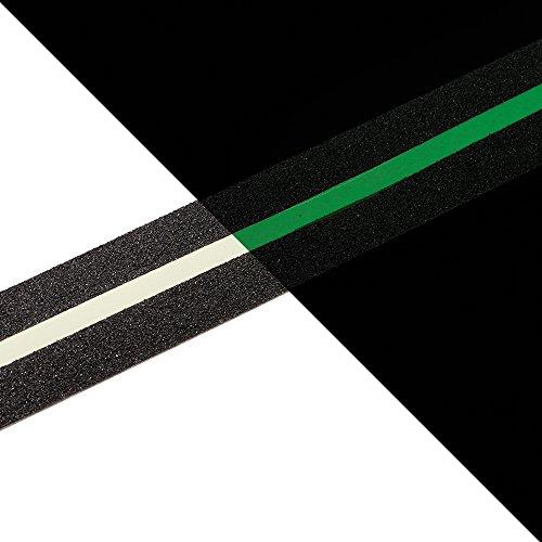 NAC SAFETY GLOW Cinta Antideslizante Seguridad, Cinta Luminosa, Brilla en la Oscuridad - Fuerte Adhesivo para escaleras, peldaños, rampas, andamios (5cm x 3m, Línea)