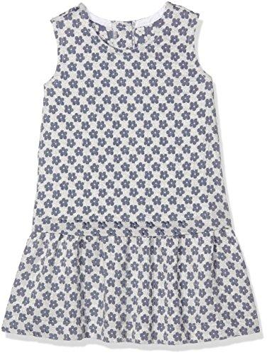 United Colors of Benetton Baby - Mädchen Dress Kleid, Mehrfarbig (Navy/White), 6-9 Monate (Herstellergröße: 68) (Navy Kinder Kleid)