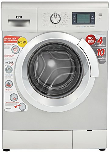 IFB 8 kg Fully-Automatic Front Loading Washing Machine (Senator Aqua SX, Silver)