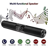 NBZH Drahtlose Bluetooth-Soundbar, Große Bildschirm Uhren-Alarmanlage Tragbare Leiste Multifunktion Dual-Channel-Stereo-Surround-Sound Für PC-Notebook-Smartphone,Black