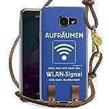 DeinDesign Samsung Galaxy A3 (2016) Carry Case Hülle Zum Umhängen Handyhülle mit Kette WLAN Lustig Funny