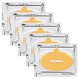 Mascarillas Colágenas de labios con Vitamina E y ácido hialurónico, hidratante y anti-envejecimiento para mantener los labios regordetes y hermosos (50 piezas)