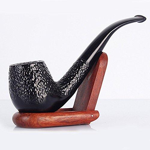 Urchoiceltd Brwon ebano Unique Smoking Pipes con filtro-Pipa in Estate per tubi 857 Best regalo