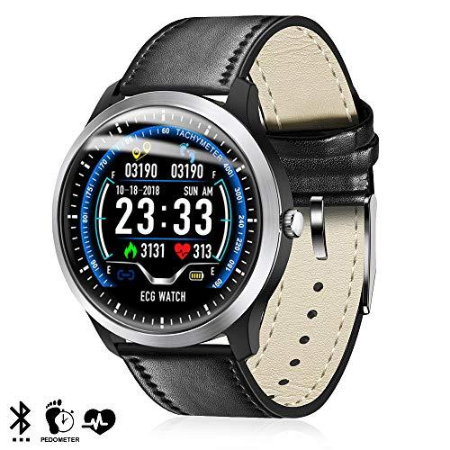 DAM. DMZ141BK. Smartwatch N58 con Monitor Cardíaco Y Notificaciones para iOS Y Android. Podómetro, Electrocardiograma. Bluetooth 4.2. Negro