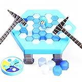 ZZM Kinder Spiele Pinguin Trap Tischspiel Balance Eiswürfel Speichern der Pinguin Eis brechen Interaktive Party-Spiel Familie Strategie Spiele für ab 3 Jahre alt