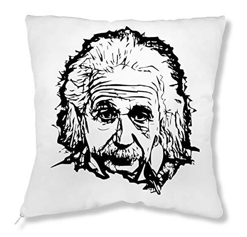 Albert Plüsch (ShutUp Albert Einstein Famous Physicist Black Artwork Kissen)
