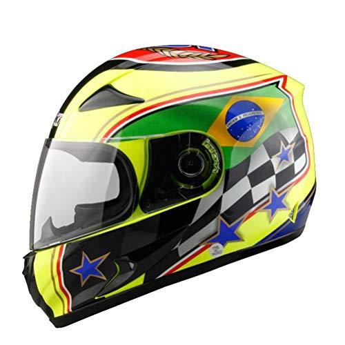 Preisvergleich Produktbild Männer Frauen Universal Full Face Motocross Helme Fiberglas Anti Fall Off Road Farbiger Schutzhelm Hochleistungsvollschutz Motorradhelm