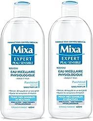 Mixa Expert Peau Sensible Eau Micellaire Physiologique 400 ml - Lot de 2