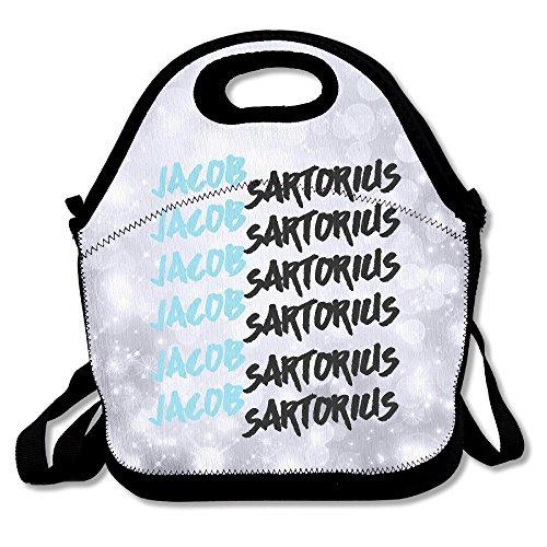 5bcdcad27 Jacob Sartorius caja de almuerzo bolsa para niños y adultos, Lunch Tote  Holder con correa