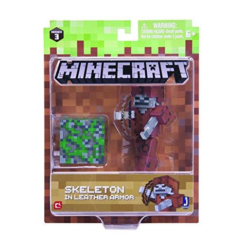 Minecraft 16487 - Action Figure of 3 inches, skin skeleton design