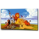 "Plush Prints Disney Lion King Simba - Canvas Print - Dominant Colour: As Shown In Picture - Canvas Size: 20"" X32"""