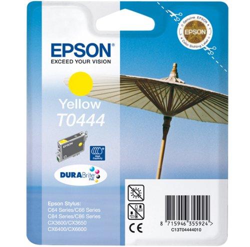 Epson T0444 Sonnenschirm, wisch- und wasserfeste Tinte (Singlepack) gelb