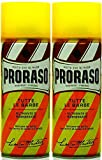 Proraso 2 er Pack Proraso Yellow Shaving Foam 400 ml Rasierschaum