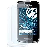 Bruni Samsung Wave Y (GT-S5380) Film Protecteur - 2 x cristal clair Film Protection d'écran Protecteur d'écran