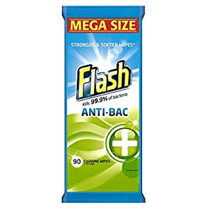 Flash Anti-Bacterial Multi-Action Cleaning Wipes, 90 Wipes