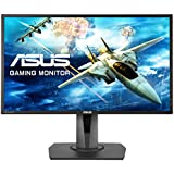 "ASUS MG248Q - Monitor gaming de 24"" (144 Hz, TN, resolución FHD 1920 x 1080, 16:9, brillo 350 cd/m2, respuesta 1 ms GTG, Adaptive Sync, 2 altavoces estéreo de 2 W RMS)"