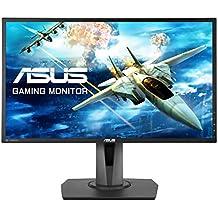 """ASUS MG248Q - Monitor gaming de 24"""" (144 Hz, TN, resolución FHD 1920 x 1080, 16:9, brillo 350 cd/m2, respuesta 1 ms GTG, Adaptive Sync, 2 altavoces estéreo de 2 W RMS)"""