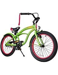 BIKESTAR® Premium 50.8cm (20 pulgada) Bicicleta Premium para los niños mas atrevidos y divertidos de 6 años ★ Edición Cruiser de Lujo ★ Verde