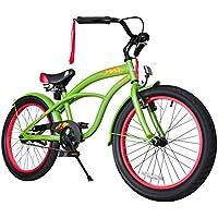 BIKESTAR® Premium Design Bicicletta per Bambini mitico! Giù 6 anno ★ Edizioni 20ª Deluxe Cruiser ★ Geco Verde