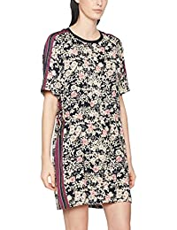 Scotch & Soda Maison Damen Casual Kleider Silky Feel Dress with Placement Prints and Tie Detail