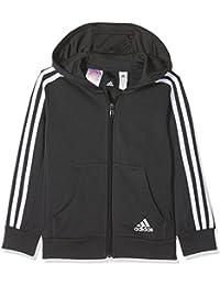 adidas Yb 3S FZ Hood Chaqueta, Niños, Gris/Blanco (Carbon),