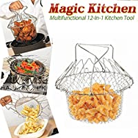 TUZECH Cook's Steel Basket for All Household cooking