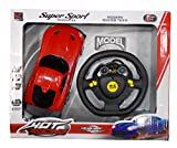 #8: Kotak Sales Kids Model Racing Super Sports Car with LED Lights Steering Wheel Remote Control Rechargeable Batteries Toy Game 1:20 Scale (7inch Size)
