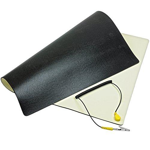 Minadax antiestáticos de Matte 30cm x 55cm–Profesional BlitzinGroup trabajo Matte–Esterilla de PVC con tierra Cable–Calidad–Protección ESD