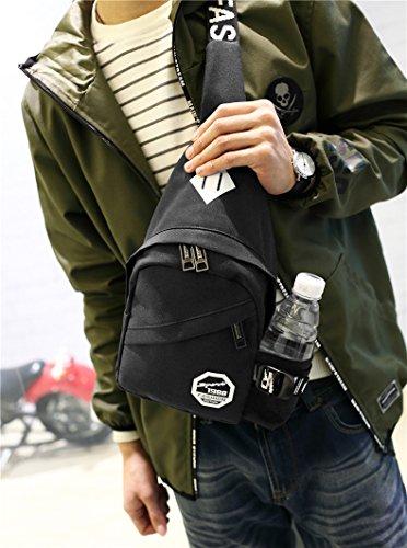 Outdoor peak Nylon Herren Tasche Brusttasche Sport Rucksack Fahrrad (schwarz) schwarz