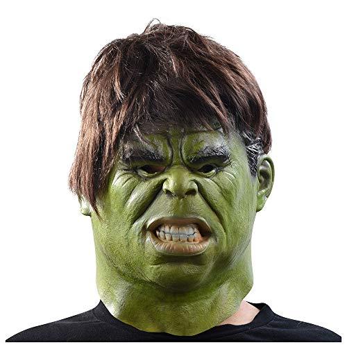 YaPin Hulk Mask Anime Man Weibliche Horror Ball Erwachsene COS Latexmaske Kopfbedeckungen Film Hulk