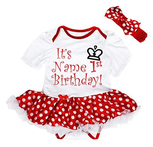ized It's My 1st Birthday Bodysuit Red Polka Dot Tutu Nb-18m (12-18 Monat) (Personalisierte Tutu)