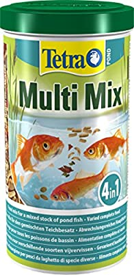 Tetra Pond Multi Mix, Complete Varied Fish Food for A Mixed Stock of Pond Fish, 1 Litre