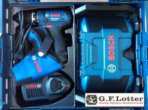Bosch-Set: Akkuschrauber GSR 10,8-2-Li Prof. + Akku-Radio GML 10,8 V-Li - 2