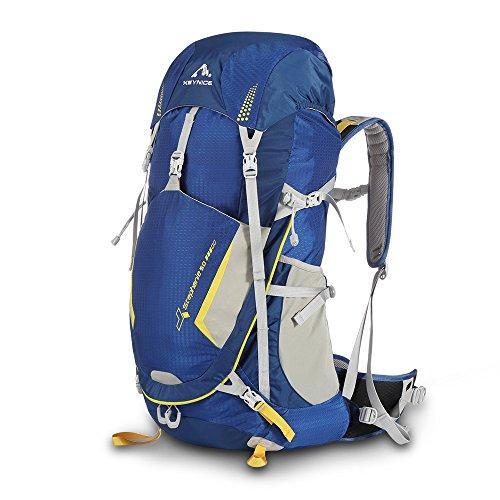 KEYNICE Leichtes Wanderrucksack 50L Trekkingrucksäcke Reiserucksack Lightweight Wasserdicht Hiking Backpack mit Regenhülle für Camping/Wandern/Bergsteigen/Reisen- Kletter-seil-kit