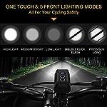 NestlingLuce-LED-per-Bici1800-Lumens-Luci-per-Bicicletta-USB-Ricaricabili-con-Luce-ausiliaria-5-modalitImpermeabile-IP6-Luci-per-Bicicletta-Luce-Bici-Anteriore-e-Posteriore